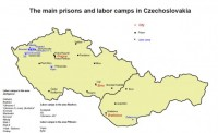 The main prisons and forced labour camps in communist Czechoslovakia